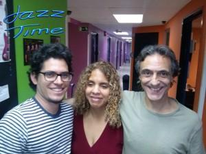 Danays Bautista, Luis Guerra y Jorge Grimaldos